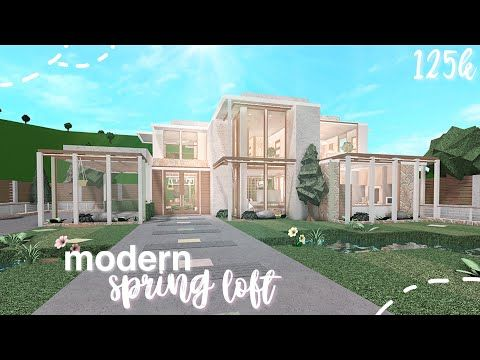 Bloxburg Modern Spring Loft Speed Build Youtube In 2020 Two Story House Design Modern Family House Family House Plans