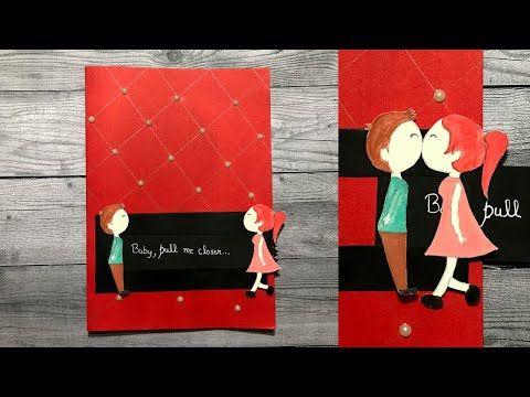 Beautiful Handmade Slider Card Handmade Greeting Card Youtube In 2021 Anniversary Cards Handmade Greeting Cards Handmade Slider Cards