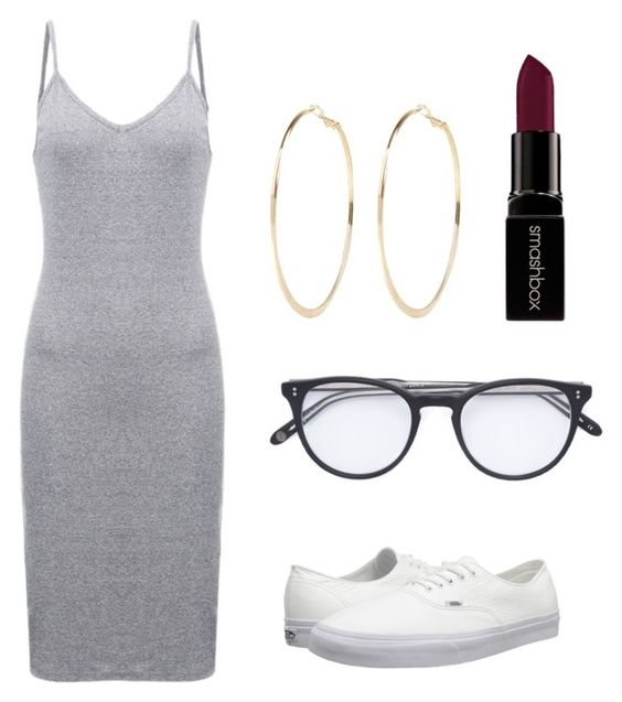 """""""Basicness"""" by kyra-roberson ❤ liked on Polyvore featuring Vans, Garrett Leight, Smashbox and River Island"""
