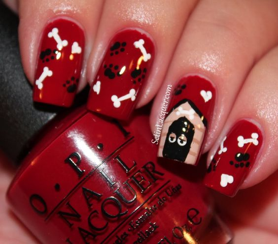 Puppy Love nail art - Set in Lacquer: