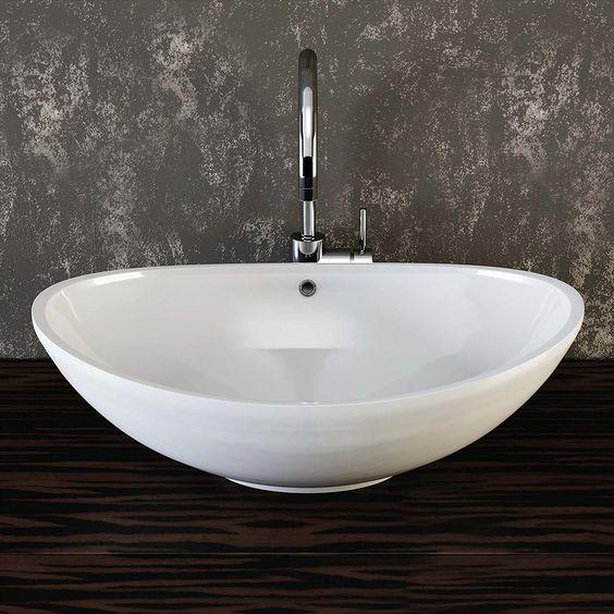 VILSTEIN© Keramik Waschbecken Aufsatz-Waschbecken Aufsatz - keramik waschbecken k che