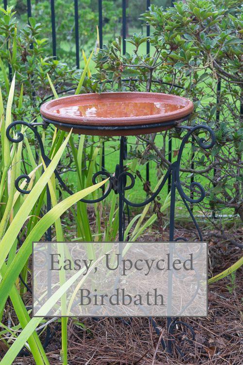 Diy Bird Bath With Waterproof Terra Cotta Bird Bath Diy Bird Bath Bird Bath Garden