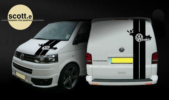 vw t5 transporter vdubz stripes decal sticker set rear. Black Bedroom Furniture Sets. Home Design Ideas