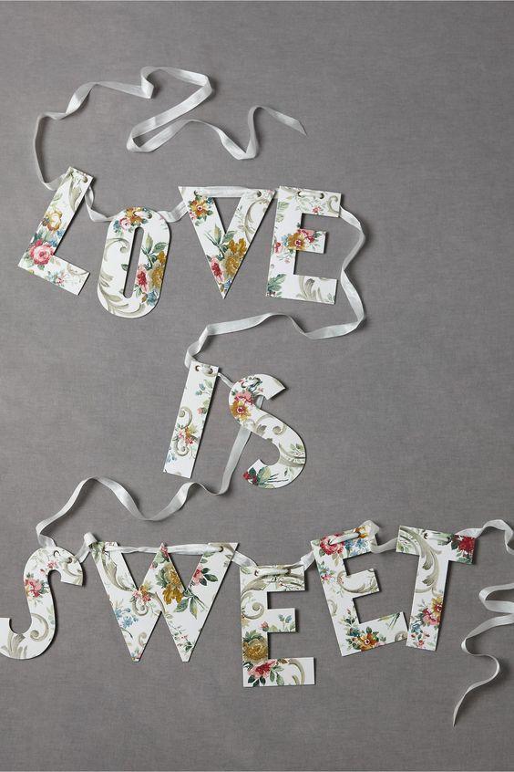 DIY Love Is Sweet Bunting