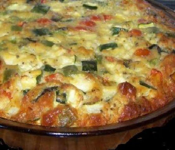 Aunt Ina's Tomato Zucchini Pie