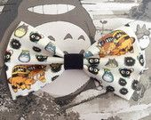 Totoro and Friends - My Neighbor Totoro - Catbus Inspired Hair Bow or Bow Tie