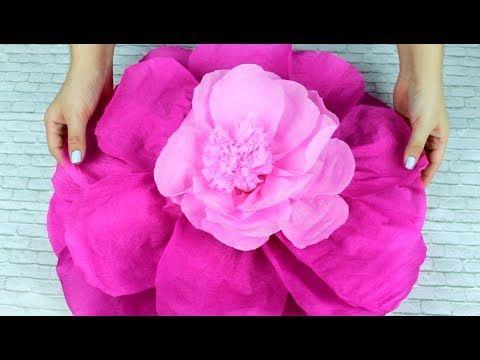 20 Como hacer rosas de papel gigantes