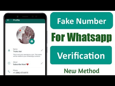 Fake Number For Whatsapp How To Get A Free Us Number For Whatsapp Veri In 2020 Fake Number Fake How To Get