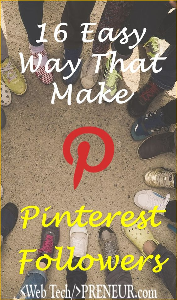 Get Followers On Pinterest: 16 Easy Way That Make Followers  #pinterest #seo #blogging #blogger #pin #seo