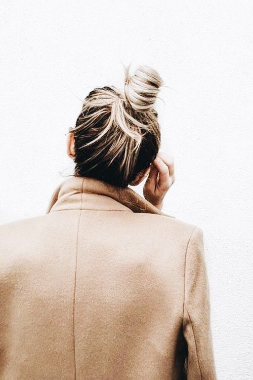 Top knot half up half down hairstyle
