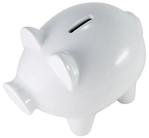 Hikari Large White Ceramic Piggy Bank For Girls Or Boys Money Coin Bank Lead And Cadmium Free 1 Unit Piggy Bank White Ceramics Piggy