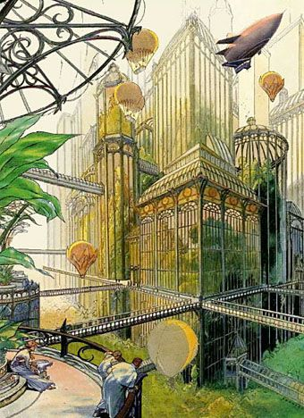 Utopian design Art by Francois Schuiten- This is amazing inspiration for design: