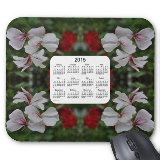 Peppermint Geranium 2015 Calendar Mouse Pad from Calendars by Janz $12.35