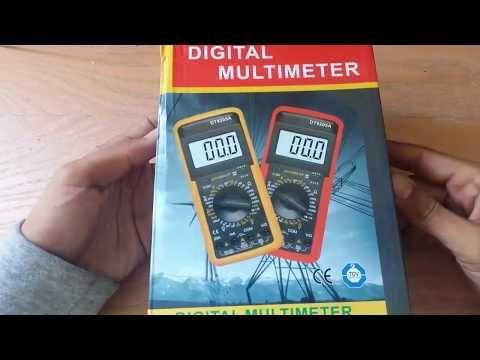 طريقة استخدام الملتمتر للمبتدئين فحص دايود قياس مكثف قياس مقاومة ملف الجزء الاول Youtube Multimeter Digital