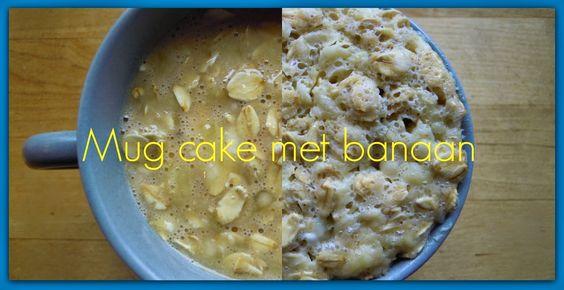Weight Watchers Recepten (met Propoints of Telvrij/Groen logo): Mug cake met ei, havermout en banaan