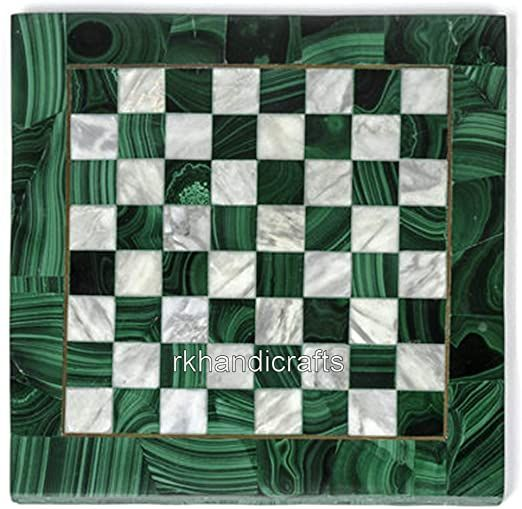 13 X 13 Inches Green Marble Chess Board Table Top Malachite Stone Random Work Side Table Can Be Use In Your Hall In 2020 Chess Board Table Chess Board Colorful Storage