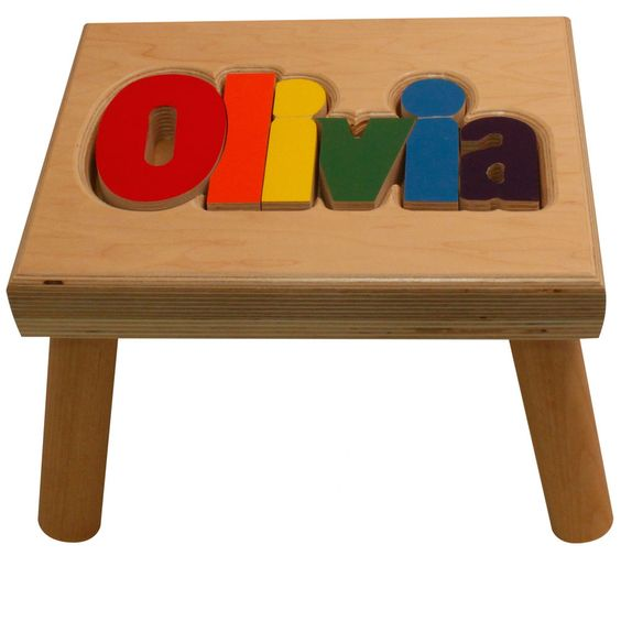 Maple puzzle name stool learning tower and babies negle Image collections