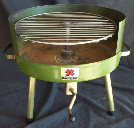 Big Boy Portable Charcoal Bbq Grill Vintage Mid Century