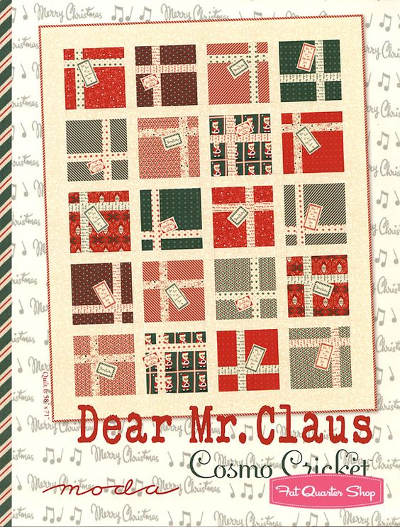 Dear Mr. Claus Project Sheet Moda Project Sheet - Christmas Cloth Store