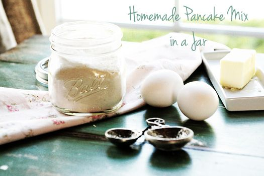 Make your own Pancake Mix! Super easy and healthier than storebought.