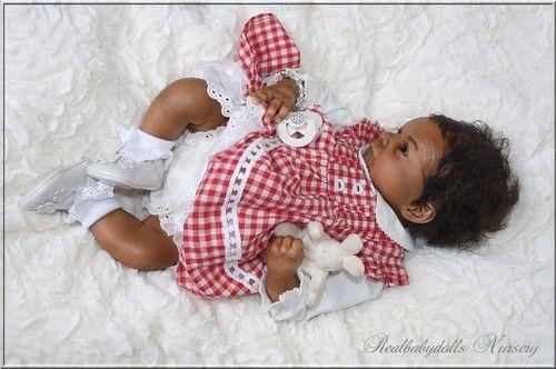 Amazing Ethnic Baby Girl Rosie O Auer Reborn Realbabydolls