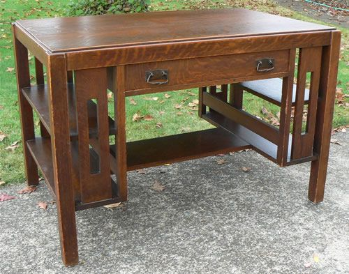 Woodworking Oak Desk Plans Pdf Plywood - Arts And Crafts Style Desk Plans Crafting