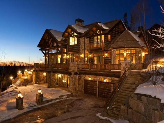Log Cabins Lakes Dream Homes Home Design Luxury Log Cabins Winter