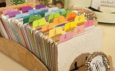 Use paint samples to make page dividers (want to use on my bdays and bills folders)