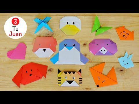 12 Figuras De Papel En Origami Manualidades Diy Juantu3 Youtube Manualidades Figuras De Papel Animales De Origami