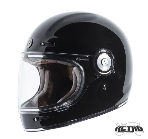 Torc T 1 Retro Full Face Helmet Gloss Black Retro Helmet Cafe Racer Helmet Full Face Helmets