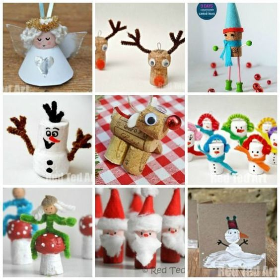 Christmas Cork Craft Ideas - these are a super duper adorable way to decorate the Christmas tree. Start saving those corks now!