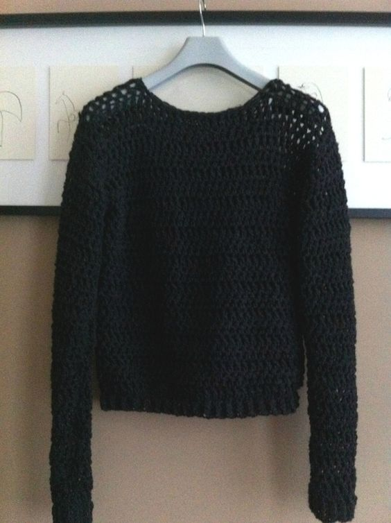 P comme... Pull, tuto gratuit en francais, pull au crochet, crocheted sweater, free french tutorial.