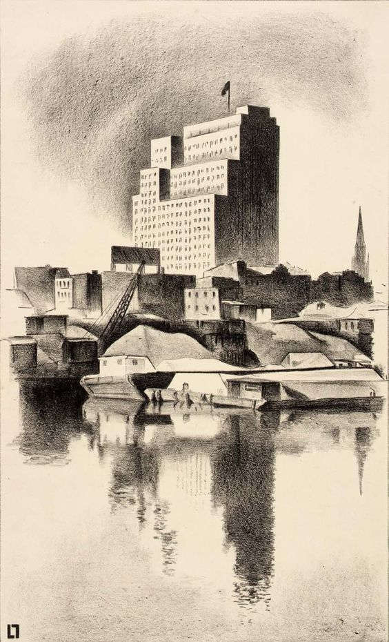 Louis Lozowick, Newark Harbor,1929 - Smithsonian American Art Museum