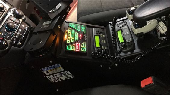 Ultra Bright Lightz Installation Feniex 4200 Controller Gamber Johnson Console Www Ultrabrightlightz Fire Department Lights Lights And Sirens Police Lights