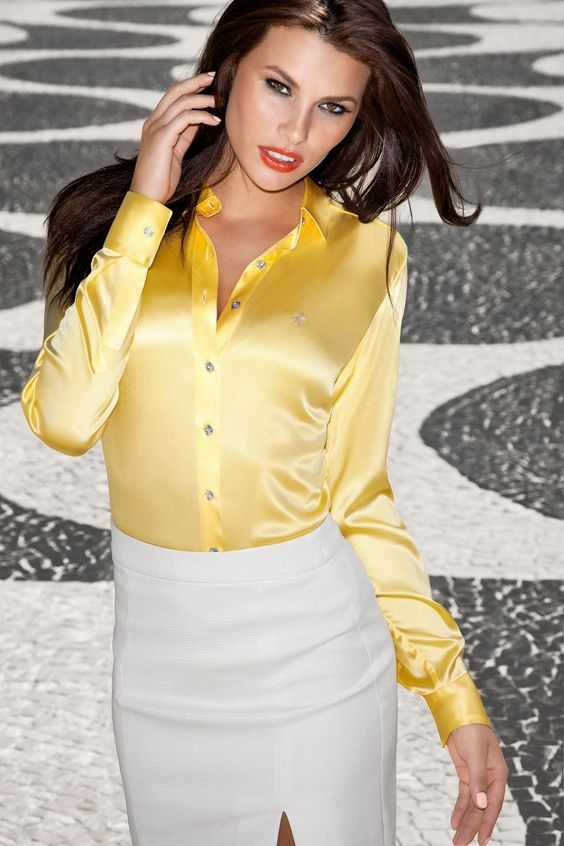 Satin blouse - camisa feminina de cetim Dudalina