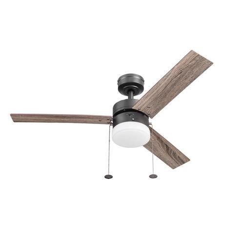 Harbor Breeze Vue 44 In Matte Bronze Led Indoor Downrod Ceiling Fan 3 Blade Lowes Com Ceiling Fan With Light Fan Light Ceiling Fan