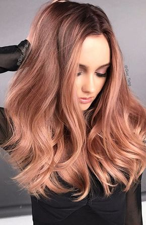 Image result for rose gold hair