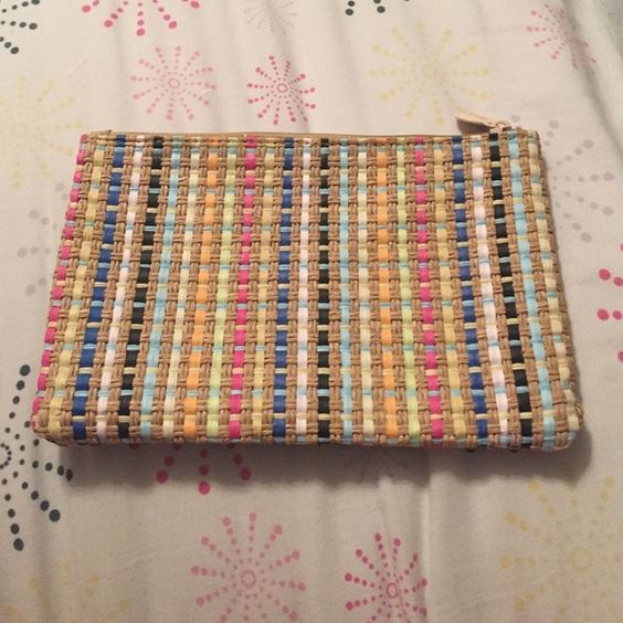 BOHO style cosmetic bag Cute straw cosmetic bag perfect for small purses Bags Cosmetic Bags & Cases
