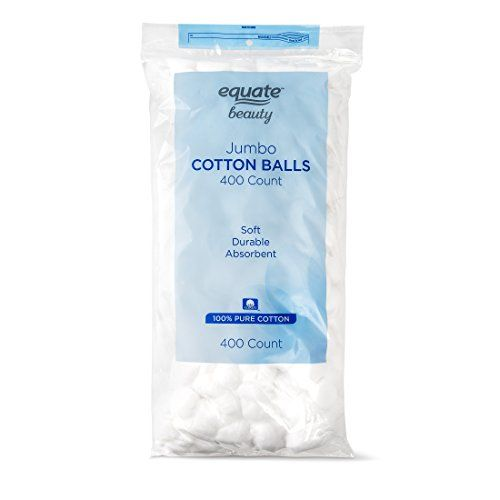 Equate Beauty Cotton Balls Large Jumbo Size 400 Count Manicure