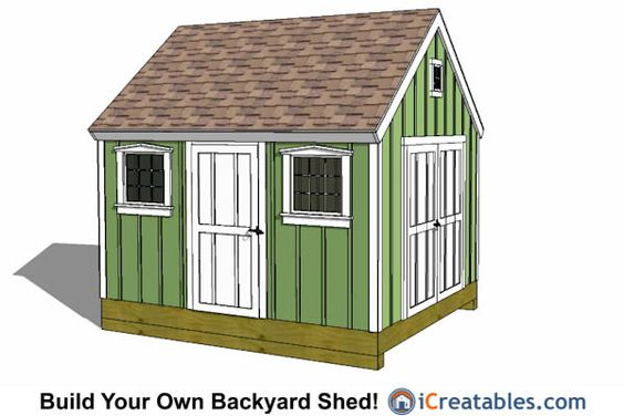 10x12 Colonial Shed Plans.
