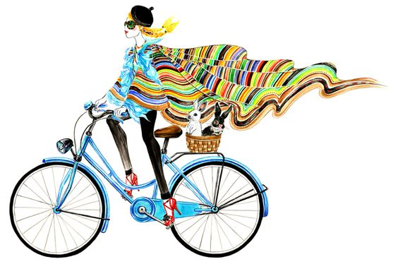 Girl riding a bike in RALPH LAUREN SPRING 2013 by Sunny Gu