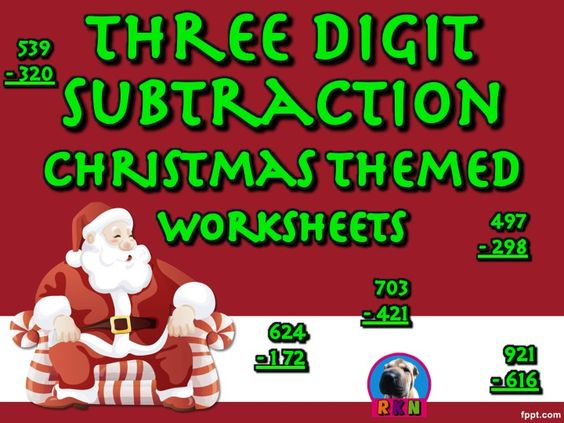 Subtraction worksheets, Christmas clipart and Cover photos on ...
