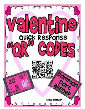 Increase Math Fact Fluency! Using QR codes is motivating, and self checking!! Valentine themed Self Checking Subtraction  from 20-