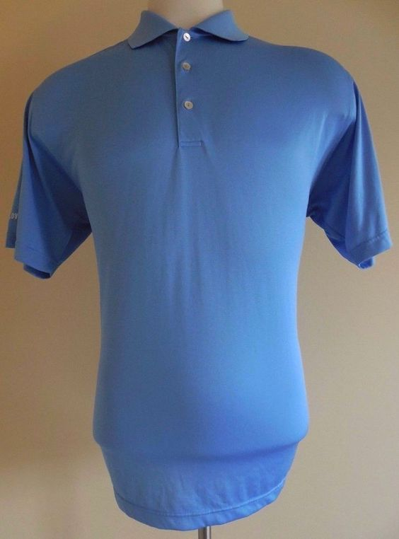 Details about peter millar polo shirt mens l blue large sz for Peter millar polo shirts