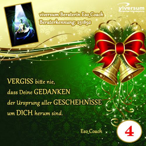 Hinter dem 4. Türchen unseres viversum Adventskalenders verbirgt sich Berater Eso_Coach. www.viversum.de