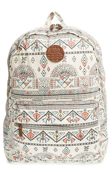 Billabong+'Hand+Over+Love'+Geo+Print+Backpack+available+at+#Nordstrom: