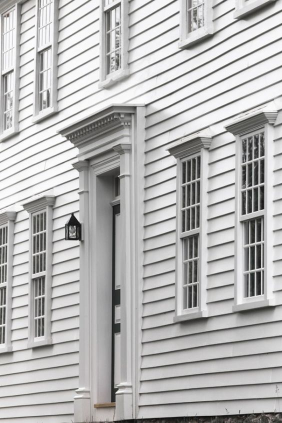 Gorgeous All White Colonial With Plank Frame Windows