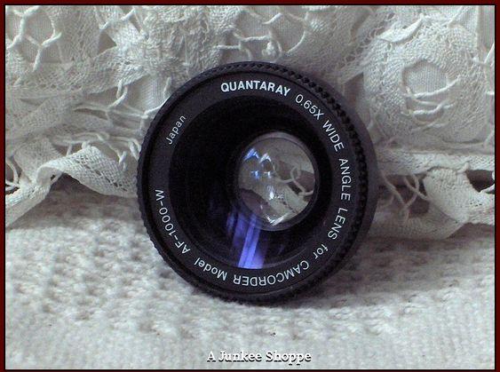 QUANTARAY 65X Wide Angle Lens For Camcorder Model AF-1000-W Vintage Used Camera   HP 5022  http://ajunkeeshoppe.blogspot.com/