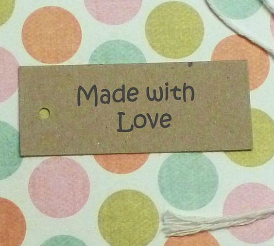 Vendor at Craft Party Nancy Makes Too Etsy Shop- 200 Made with Love tags kraft tags personalized tags custom tags gift tags labels price tags clothing hang tags product tags merchandise tag