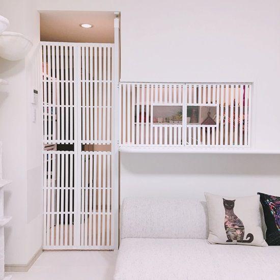 賃貸diy 猫キッチン侵入防止扉 家具のアイデア 模様替え